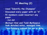 pc meeting 2