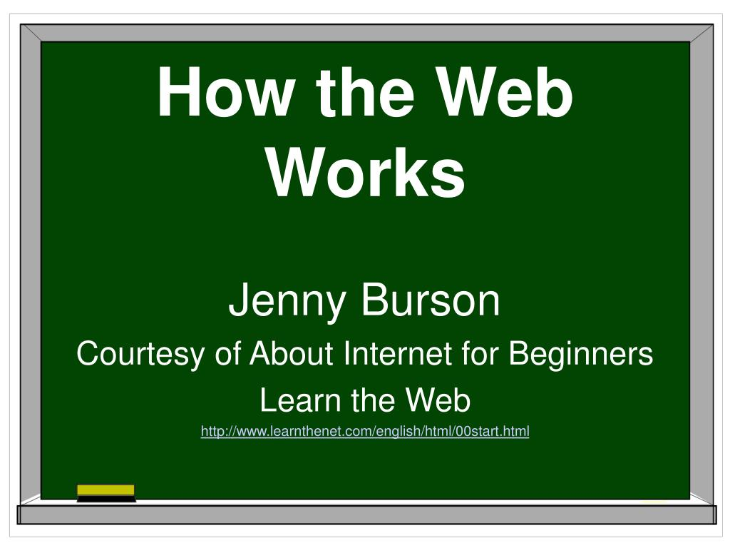 how the web works l.