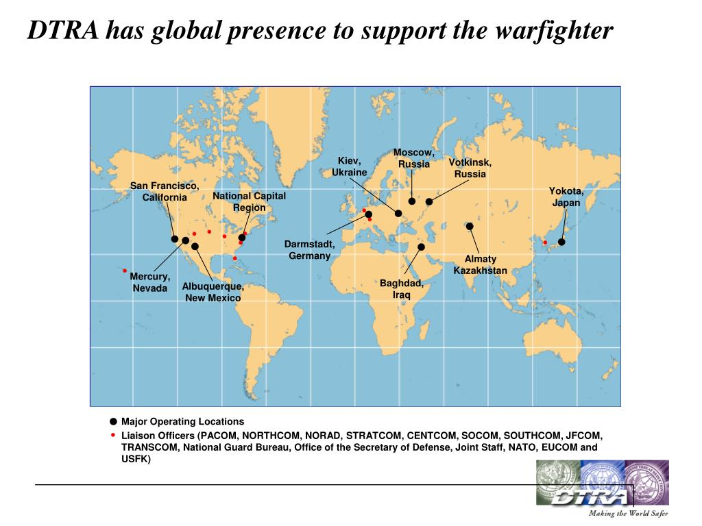 DTRA has global presence to support the warfighter
