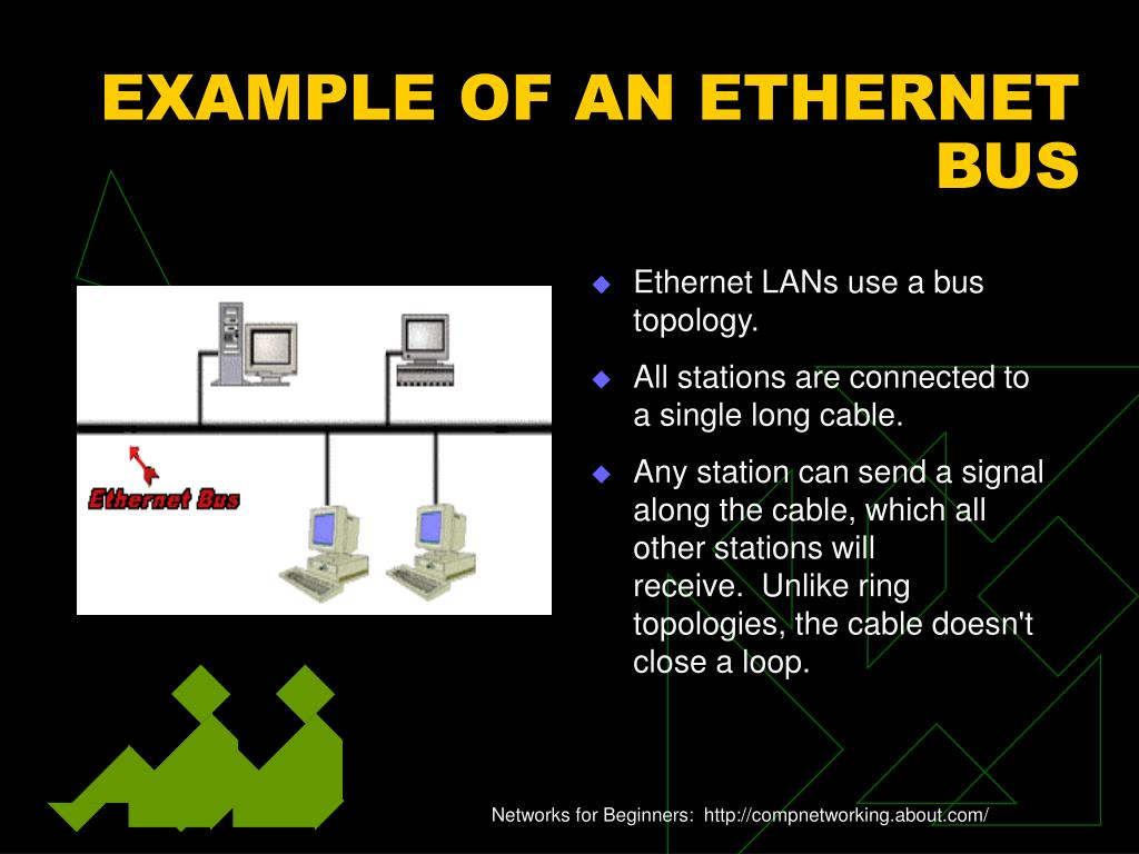 EXAMPLE OF AN ETHERNET BUS