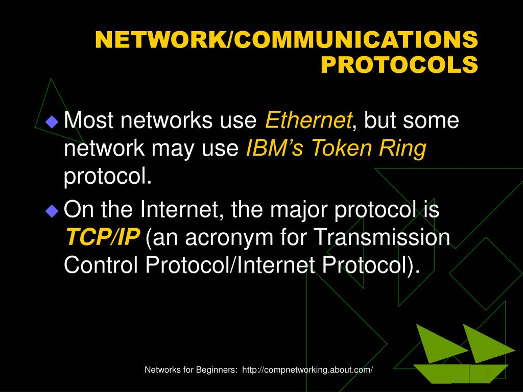 NETWORK/COMMUNICATIONS PROTOCOLS