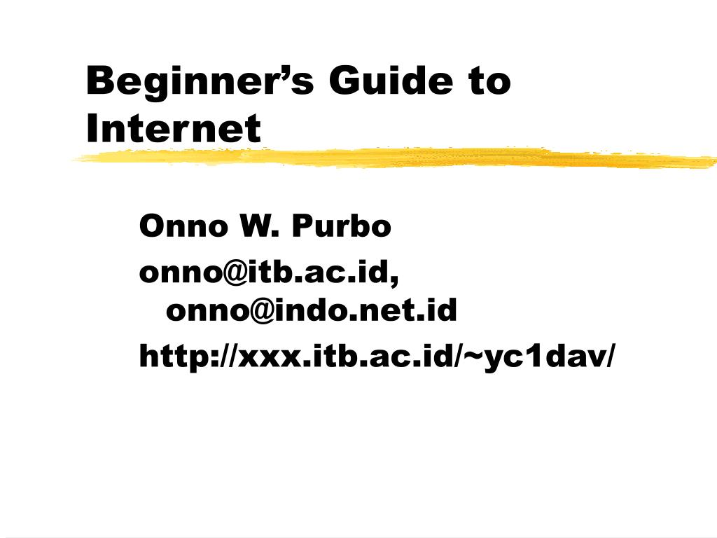 beginner s guide to internet l.