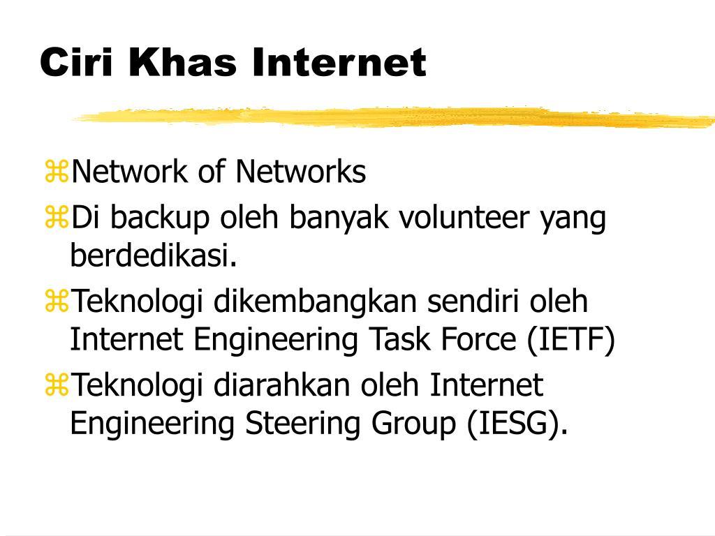 Ciri Khas Internet