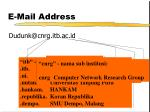 e mail address