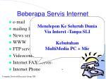 beberapa servis internet40