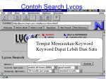 contoh search lycos99