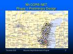wi cors net phase 1 preliminary design
