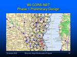 wi cors net phase 1 preliminary design32