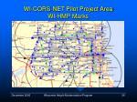 wi cors net pilot project area wi hmp marks