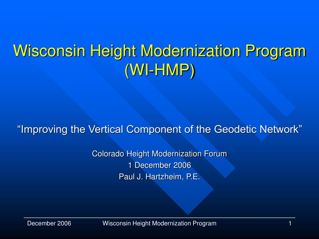 wisconsin height modernization program wi hmp l.