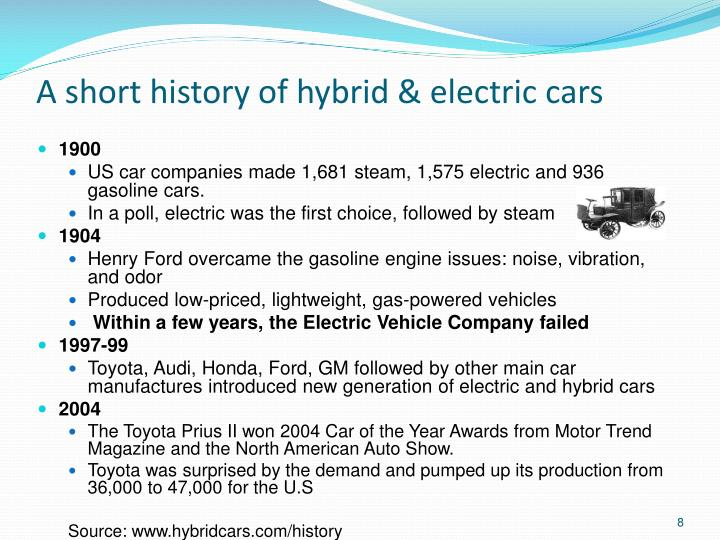 A Short History Of Hybrid Electric Cars