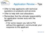 application review tips