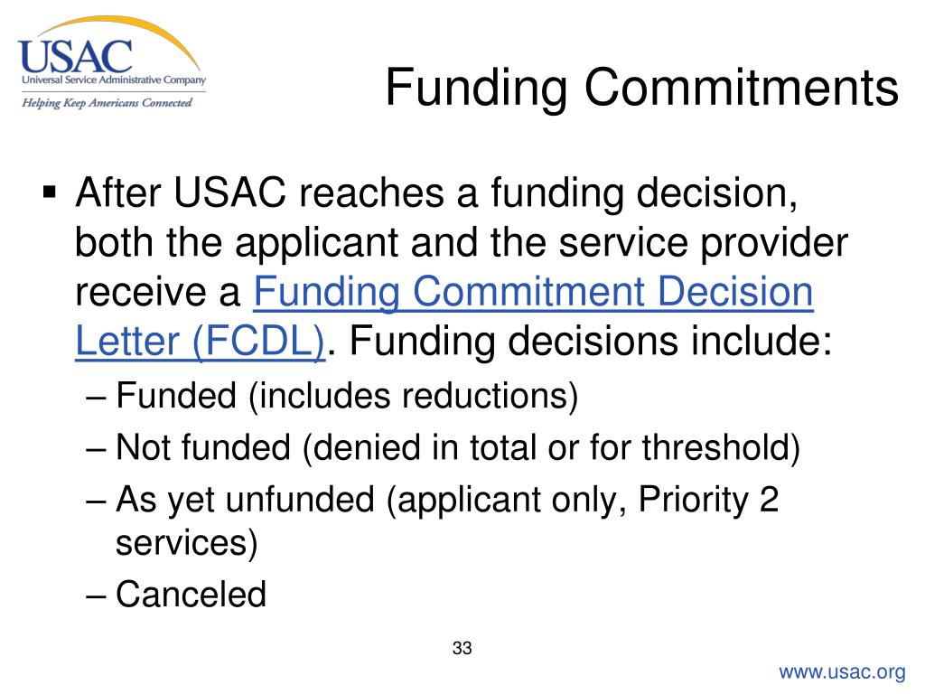 Funding Commitments