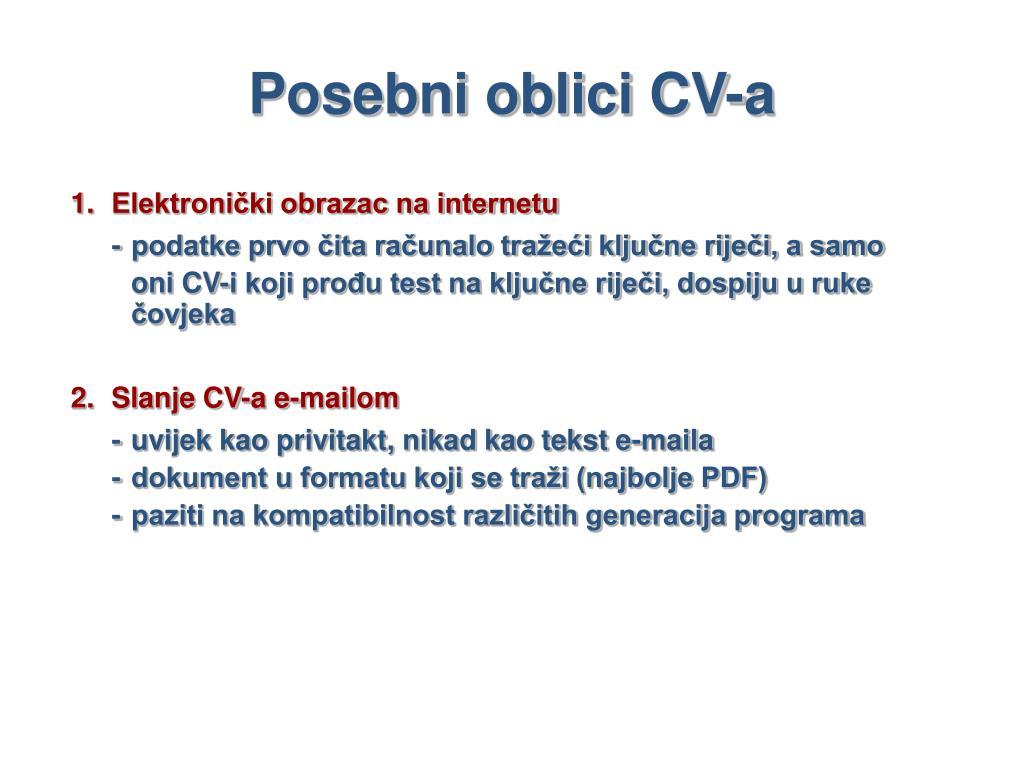 Posebni oblici CV-a