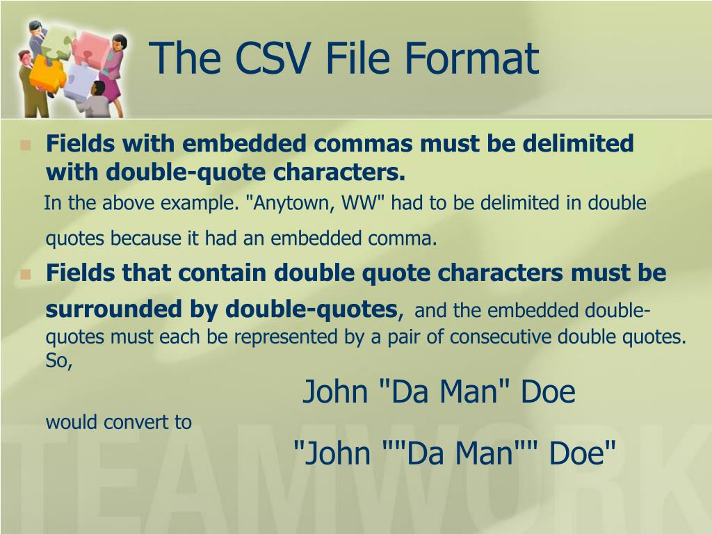 The CSV File Format