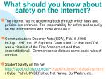 what should you know about safety on the internet