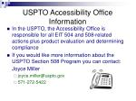 uspto accessibility office information