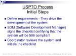uspto process initial steps
