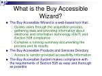 what is the buy accessible wizard