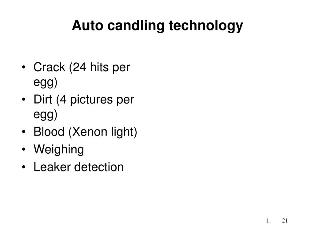 Auto candling technology