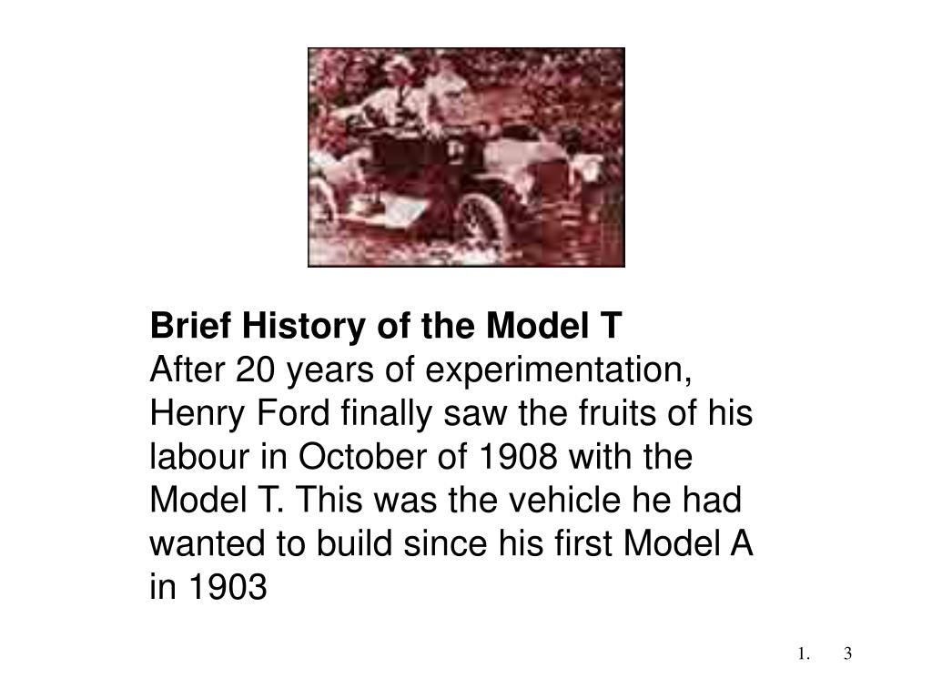 Brief History of the Model T