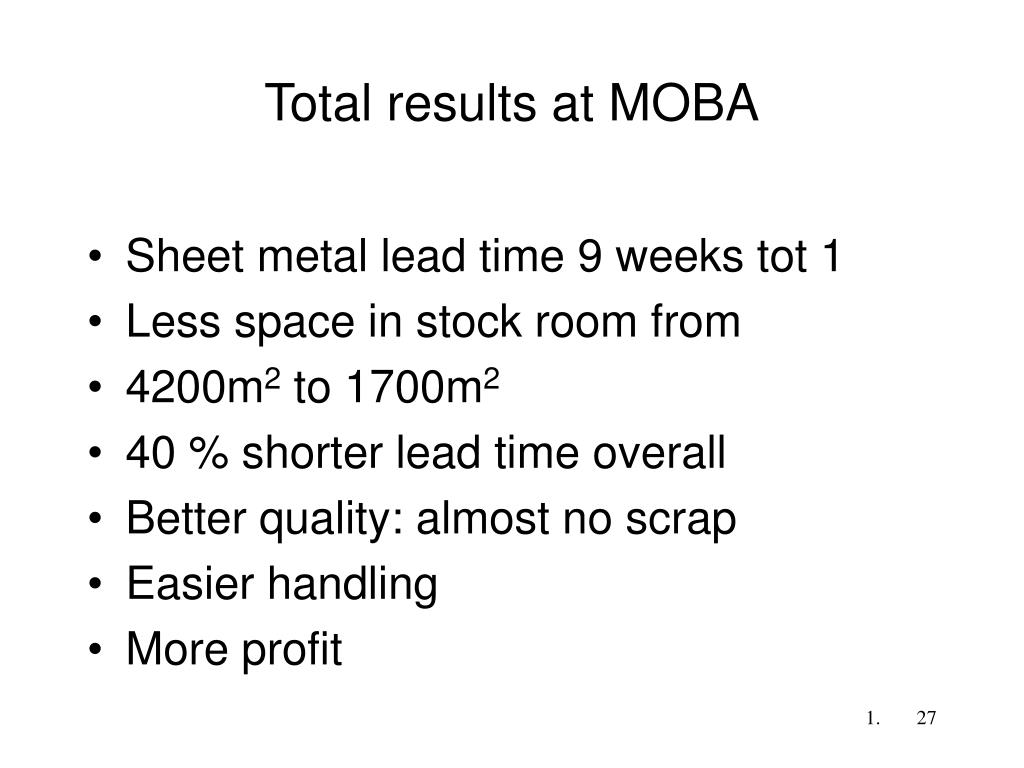 Total results at MOBA