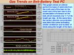 gas trends on belt battery test pc