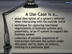 a use case is a