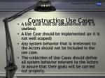 constructing use cases