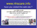 www nhscare info