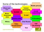 some of the technologies