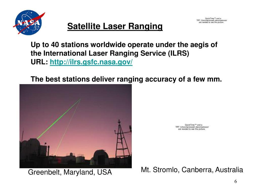Satellite Laser Ranging