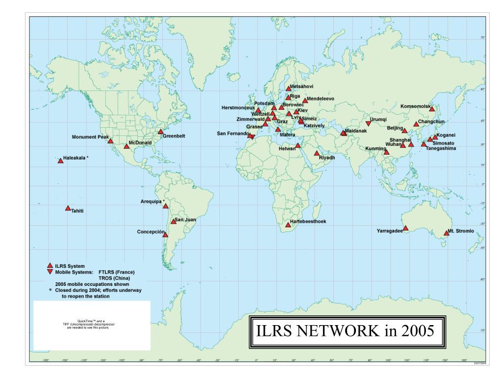 ILRS NETWORK in 2005