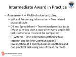 intermediate award in practice18