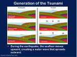generation of the tsunami