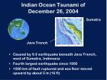 indian ocean tsunami of december 26 2004