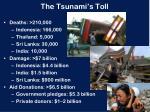 the tsunami s toll