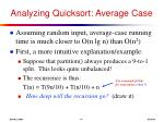 analyzing quicksort average case