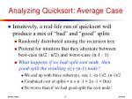 analyzing quicksort average case17