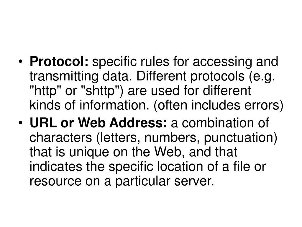 Protocol: