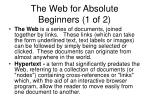 the web for absolute beginners 1 of 2