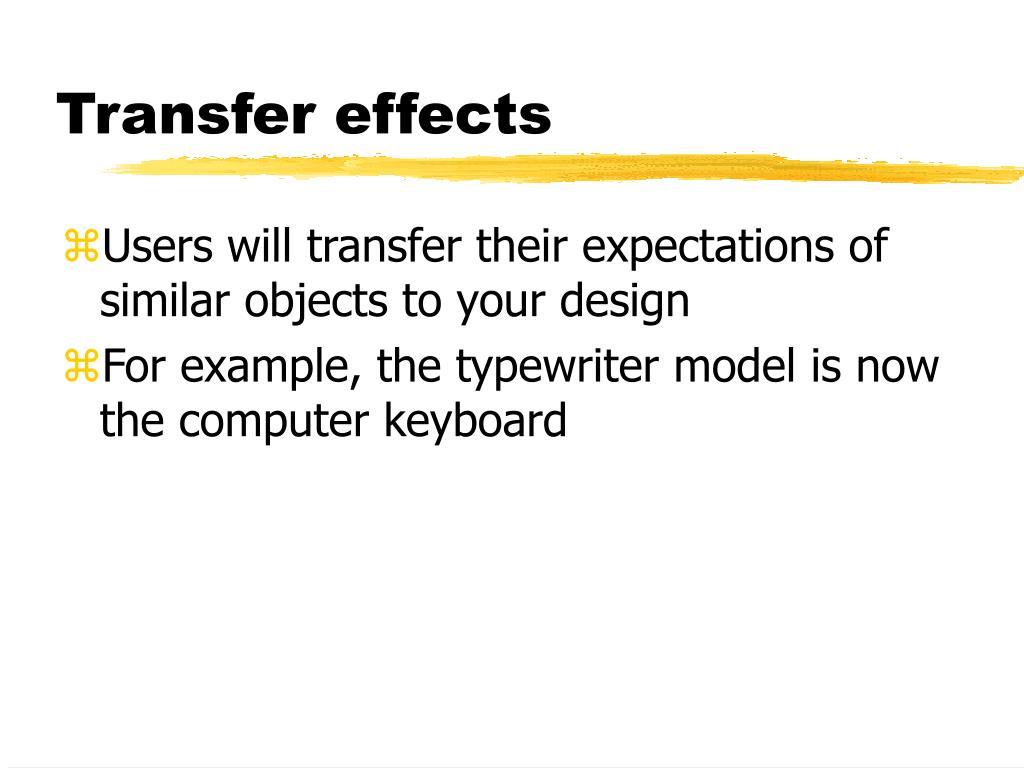 Transfer effects