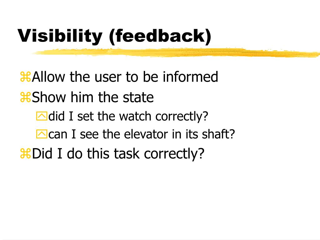 Visibility (feedback)