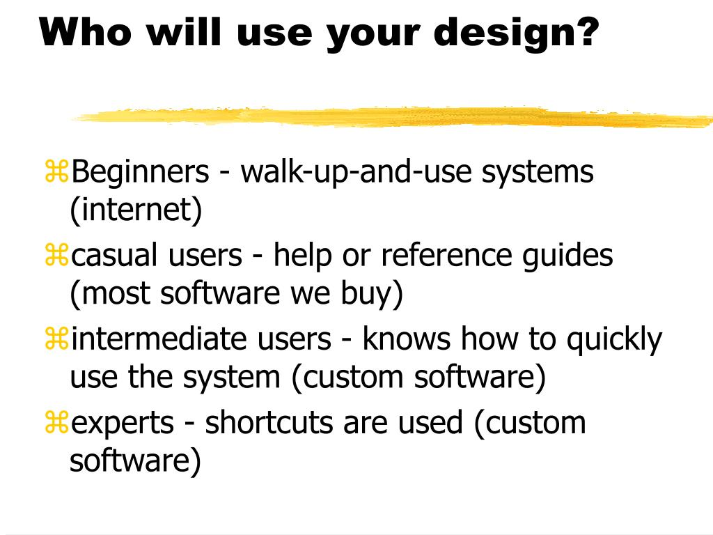Who will use your design?
