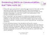 enhancing skills on communication and team work 3