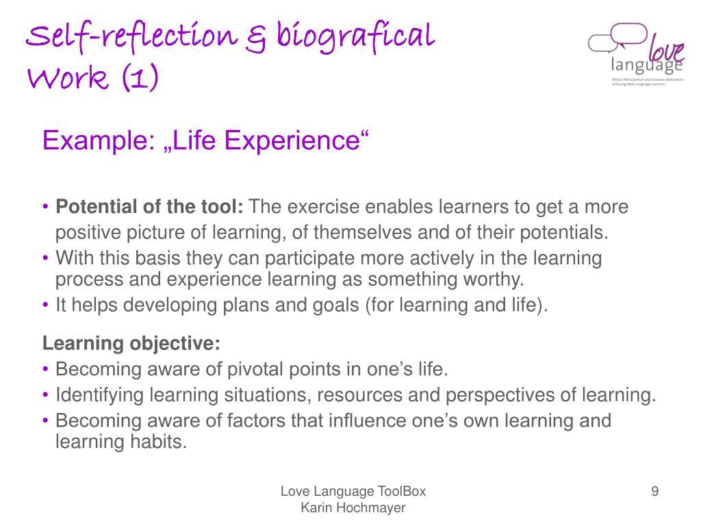 Self-reflection & biografical