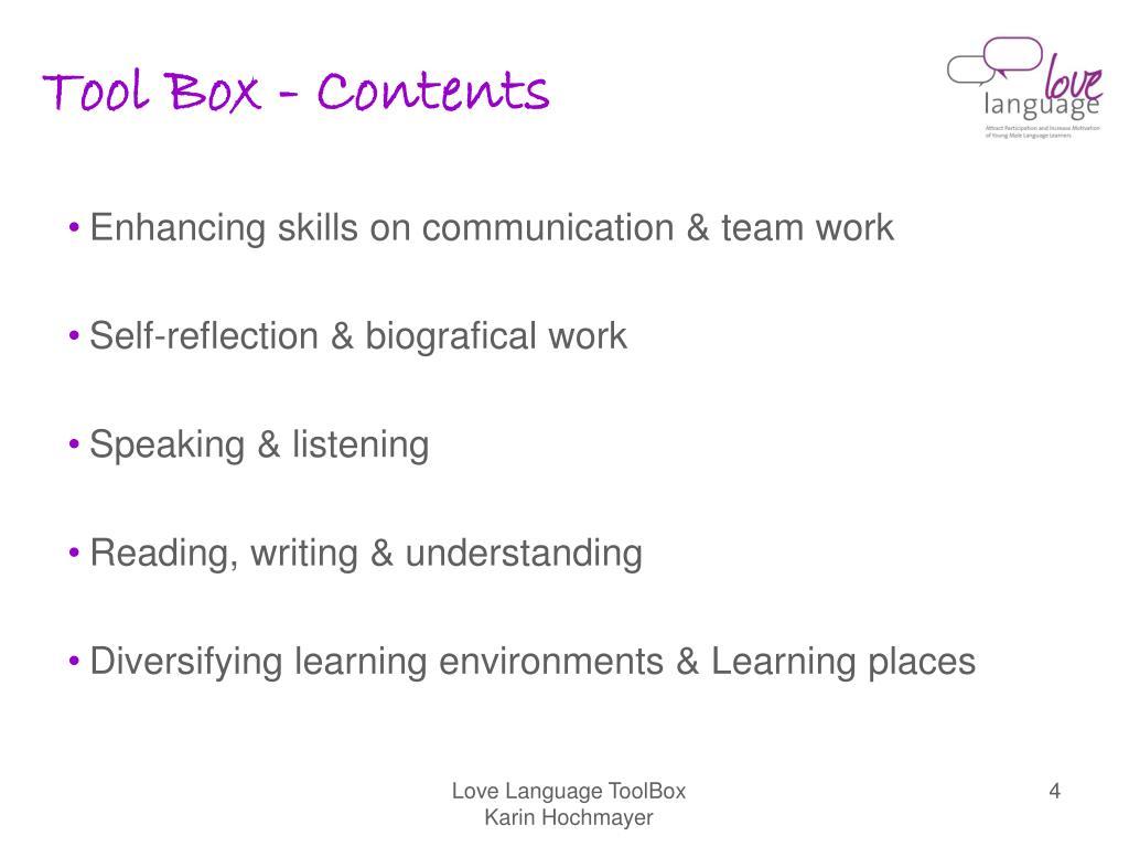 Tool Box - Contents