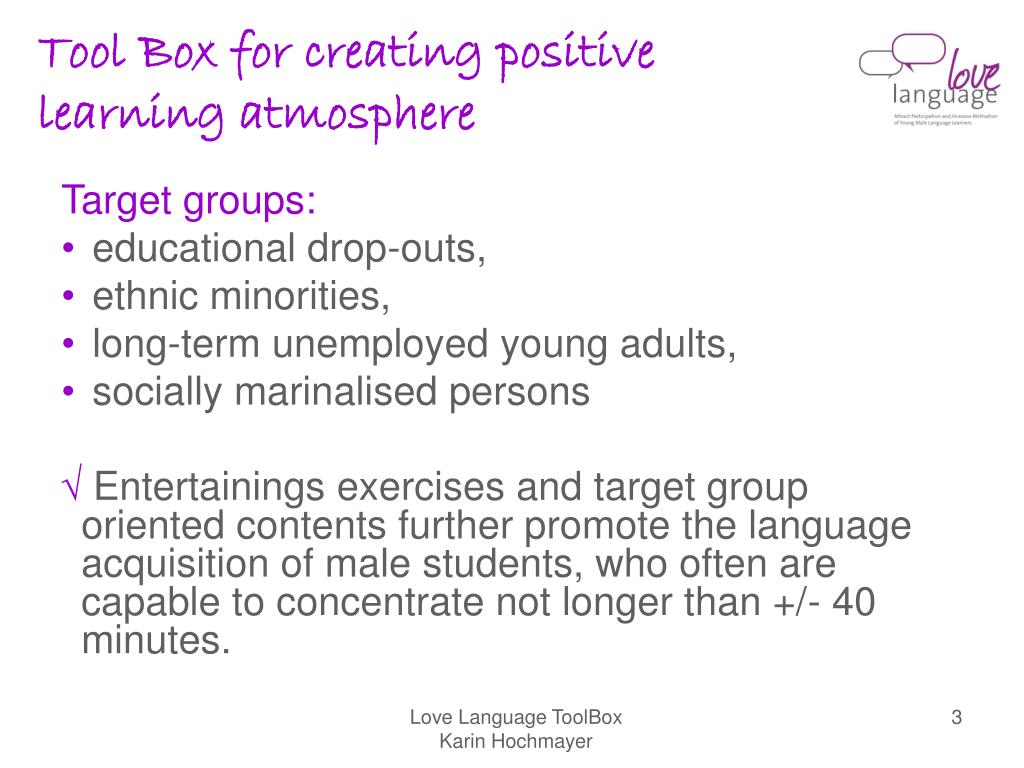 Tool Box for creating positive