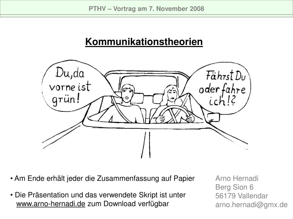 PTHV – Vortrag am 7. November 2008