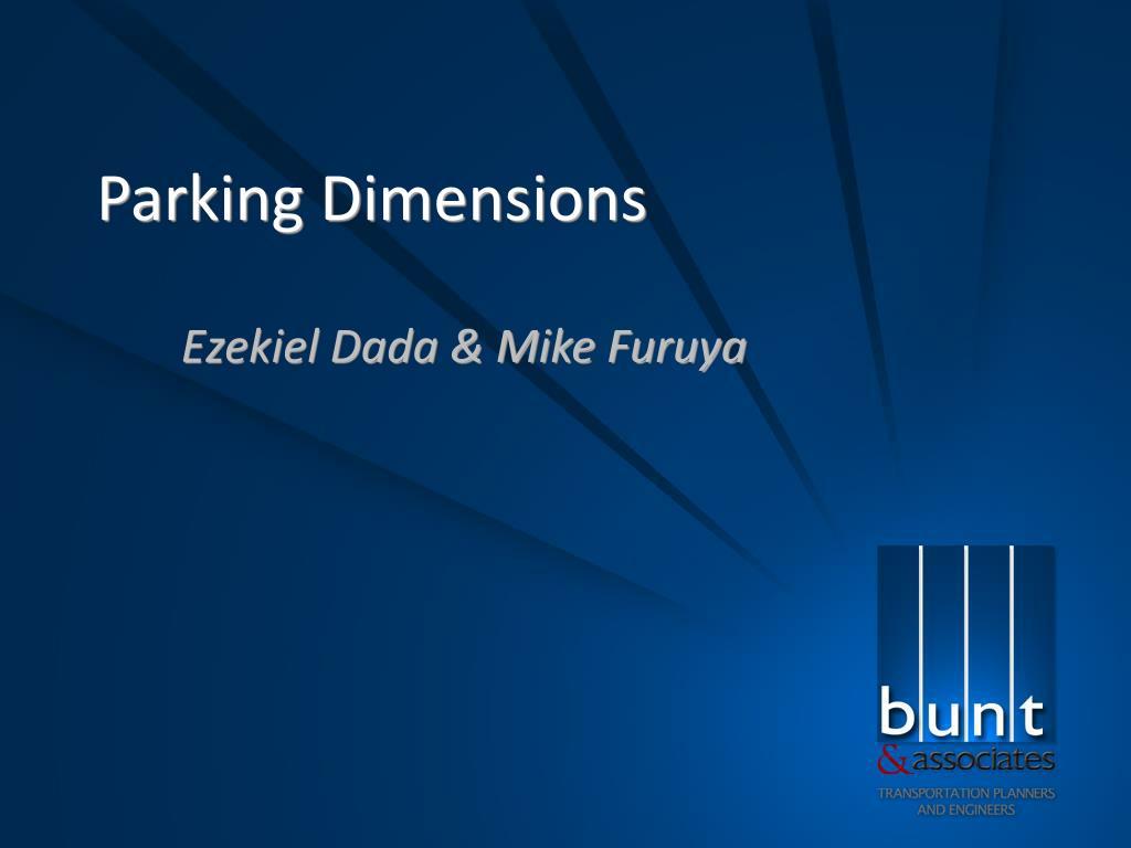 parking dimensions l.